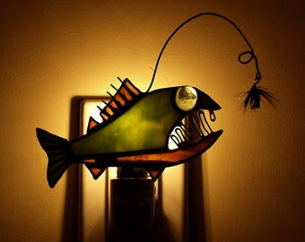 Walleye Angler Fish Night Light