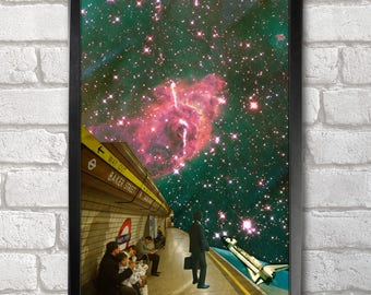 Space Station Poster Print A3+ 13 x 19 in - 33 x 48 cm Space Collages Buy 2 get 1 FREE