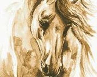 Cross Stitch Pattern Horse 2412 PDF