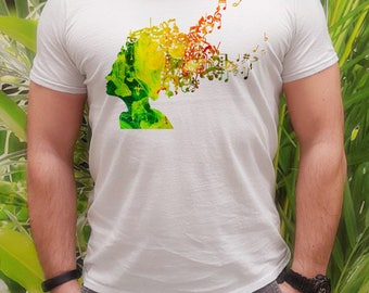 Cool t-shirt - Music tee - Fashion men's apparel - Colorful printed tee - Gift Idea