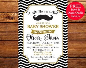 Little Man Shower Invitations, Little Man Baby Shower, Mustache baby shower, Mustache Little Man Baby Boy Shower 154