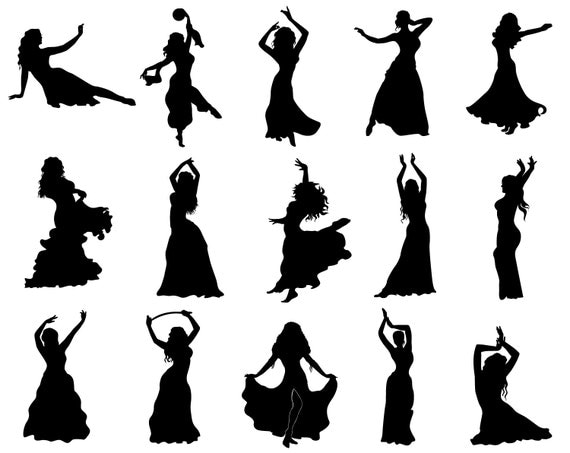 belly dancer silhouette svg silhouette belly dancer silhouette cameo cricut png 1869