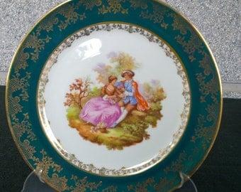 Dish of porcelain Limoges / Decorative plate of Limoges porcelain