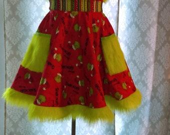 Grinch apron Christmas apron