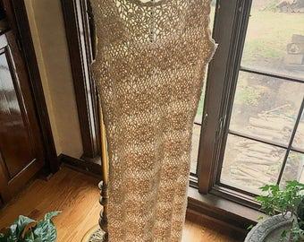 Vintage Crochet Cut out bohemian festival dress!