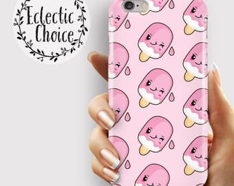 Cute Lolly iPhone 6s case, iPhone 7 Plus case, iPhone 6 case, 5s, 5c, kawaii case , pastel , pink food  ,ice cream , Popsicle , lolly pop ,