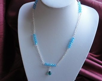 Blue Ice Floating Necklace - N8