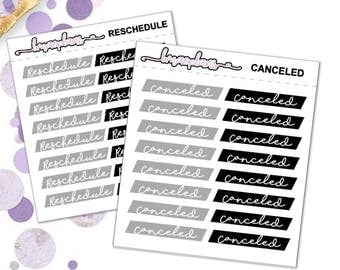 Canceled/Reschedule - planner stickers erin condren happy planner