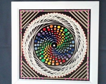 Colourful Swirl String Art