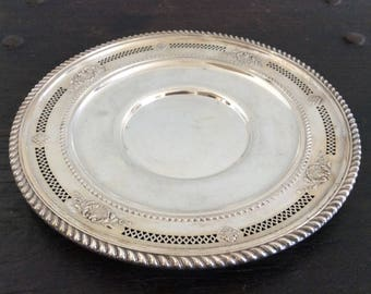 Antique Sterling Silver platter / Tray / Cole Meats dish / Charcuterie / 925