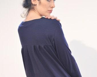 SALE! Jersey jacket 'Praise' blue Jersey fold Cardigan