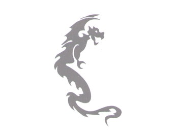 Black Dragon Fake Tattoo - 2x2 inch