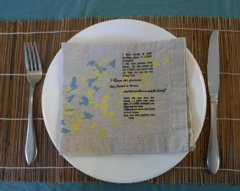 Psalm 84 napkins - set of 4