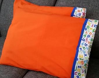 Orange-ABC Pillowcases