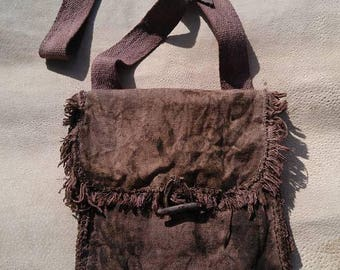 Distressed and aged Hemp Bag