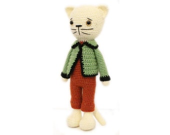 Amigurumi  : PATTERN Cat-Kitty-Amigurumi Cat pattern-Crochet - doll-toy - baby shower