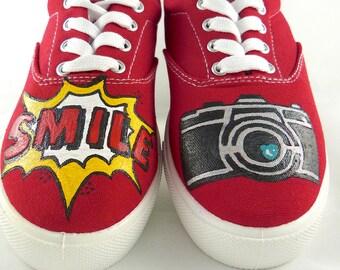 Pop star smile sneakers