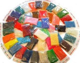 1 kilo Seed beads 50 Colors set