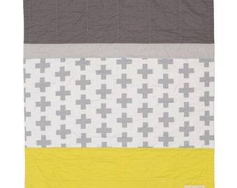 Crosses Modern Baby Quilt