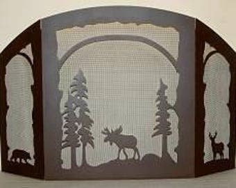 Melinda Fireplace Screen - Moose Design