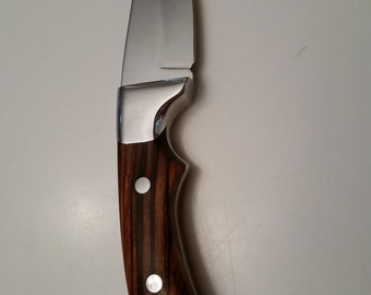Knife Perfection with Tanned Leather Sheath