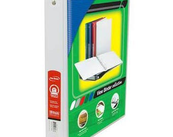 BAZIC 1 inch White 3 Ring Binder
