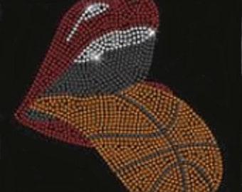 Basketball Bleacher Creature Rhinestone Transfer                           SFPC-B