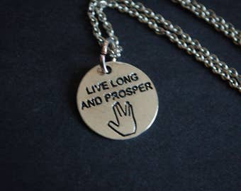 Live long and prosper vulcan necklace