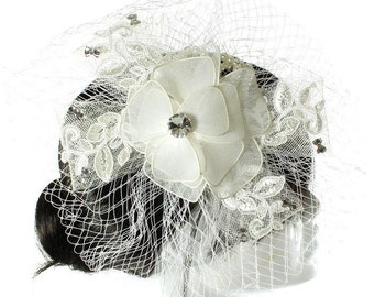 Bridal Flower veil clip