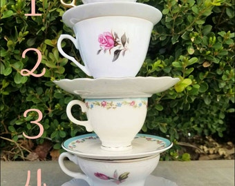 Teacup and saucer set, vintage, bone china, 23 karat gold