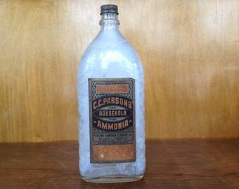 Antique C.C.Parson's Ammonia Poison Bottle