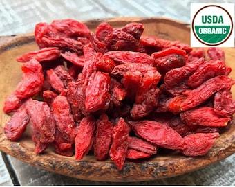 ORGANIC GOJI BERRY, organic lycii, organic wolf berries, lycium chinense