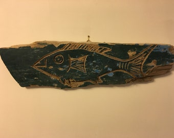 Balinese reclaimed boat wood carving
