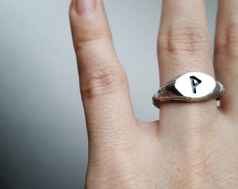 Viking Rune (P) Sterling silver Ring