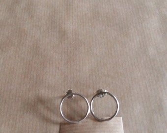 Silver earrings with matching ring. Can also be custom made