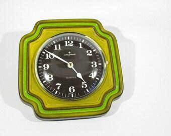 vintage Wall clock porcelain JUNGHANS