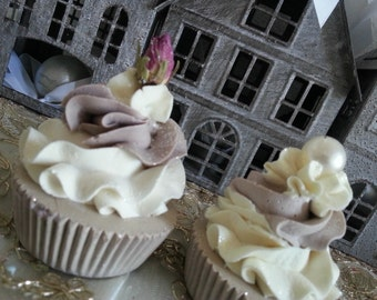 """handcrafted soap natural soaps """"shabby"""" cupcakes"""