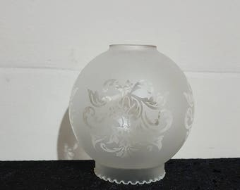 Replacement shade, clear pendant shade in frosted glass!!