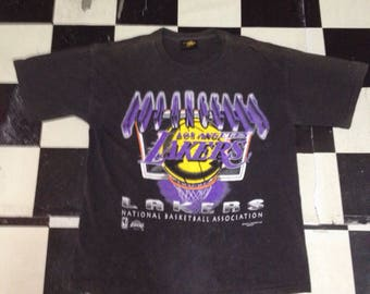 Hot sale vintage 90' los angeles lakers tshirts/magic johnson