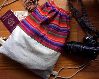 Boho Rucksack Backpack Canvas