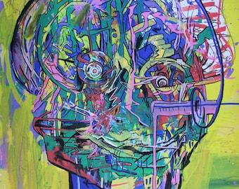 psychedelic portrait art