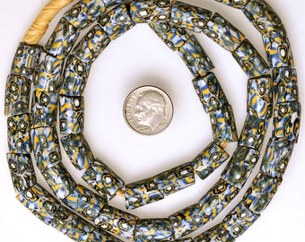 Long 28 Inch Strand of Matched Venetian Millefiori Beads - Vintage African Trade Beads - MF398