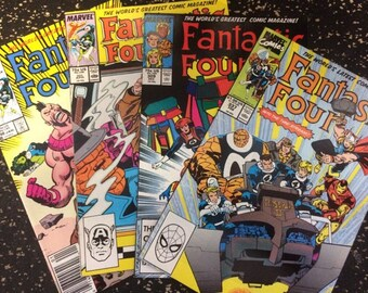 Fantastic Four # 298, 301,  309, 337 Comic Lot by Marvel Comics