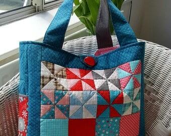 Pinwheel Patchwork Bag PDF Sewing Pattern Instant Download