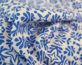 Blue Four Point Pattern Viscose