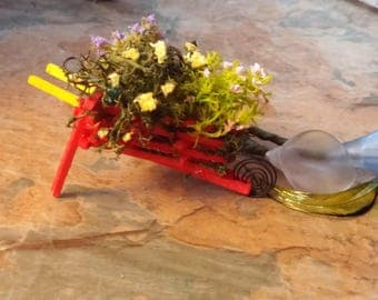 Fairy Garden, Miniature Wheelbarrow, Fairy Accessories, Elf Garden, Pixie Garden,Miniatures,Miniature Furniture,Dolls House,Dolls Miniatures