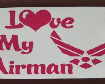 I Love My Airman Personalized Cell Phone Cases