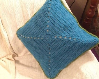 Double sided crochet cusion