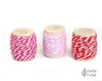 Baker yarn of Baker's Twine red/pink/pink/white 33 m (PR-5)
