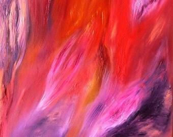 """Original """"Angel Wings"""" Energy Oil Painting"""